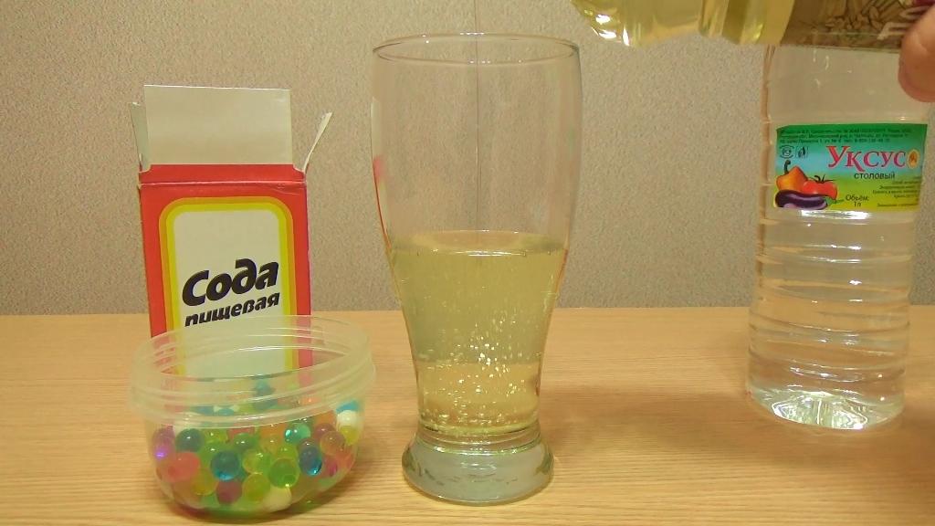 Большой стакан, подсолнечное масло