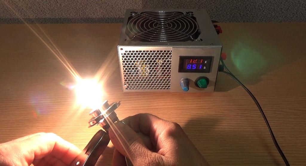 Тестирование зарядного устройства из компьютерного блока питания