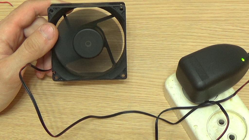 Проверяем как работает вентилятор
