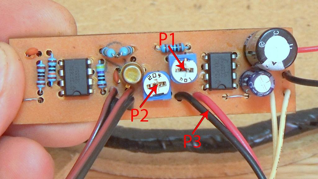 Переменные резисторы Р1, Р2, Р3