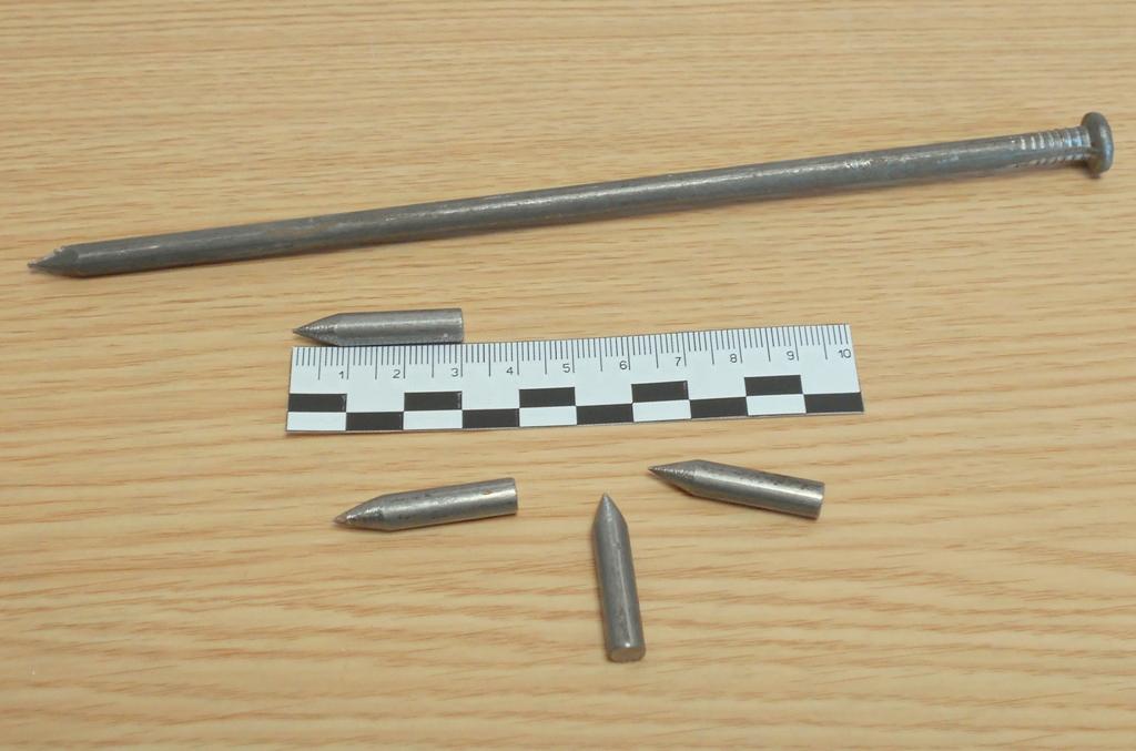 Пули для Гаусс пушки из строительного гвоздя 6х200 мм