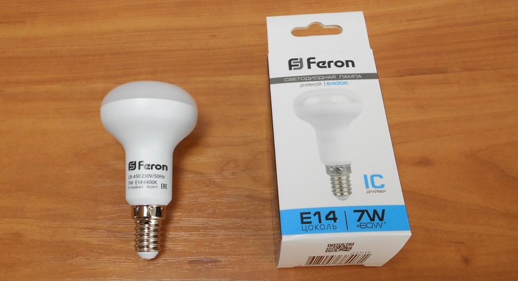 Светодиодная лампа Feron 230V 7W E14 6400K