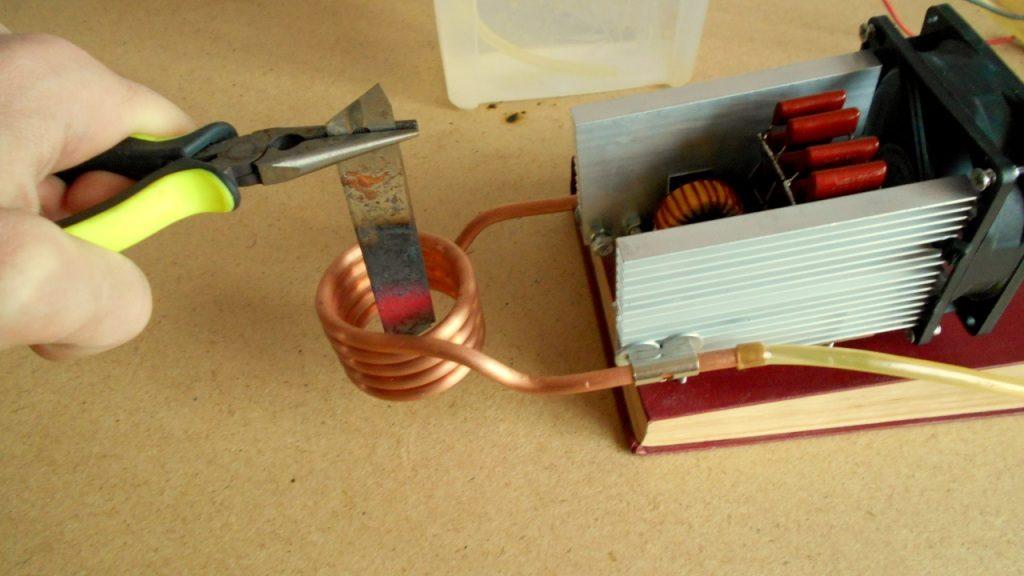 Испытания индукционного нагревателя