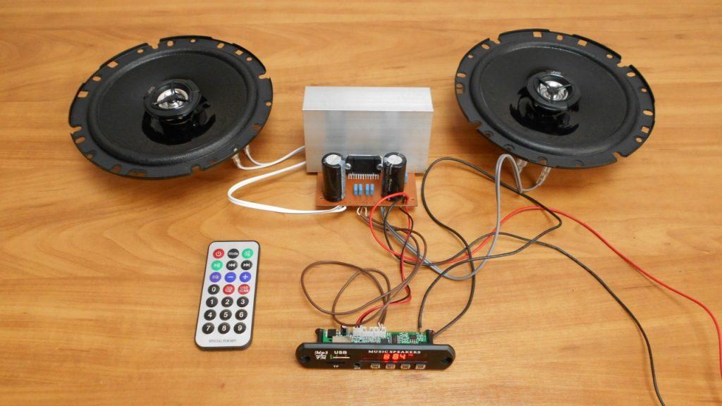 Усилитель звука НЧ на микросхеме TDA7850 своими руками АС JVC CS-DR1720