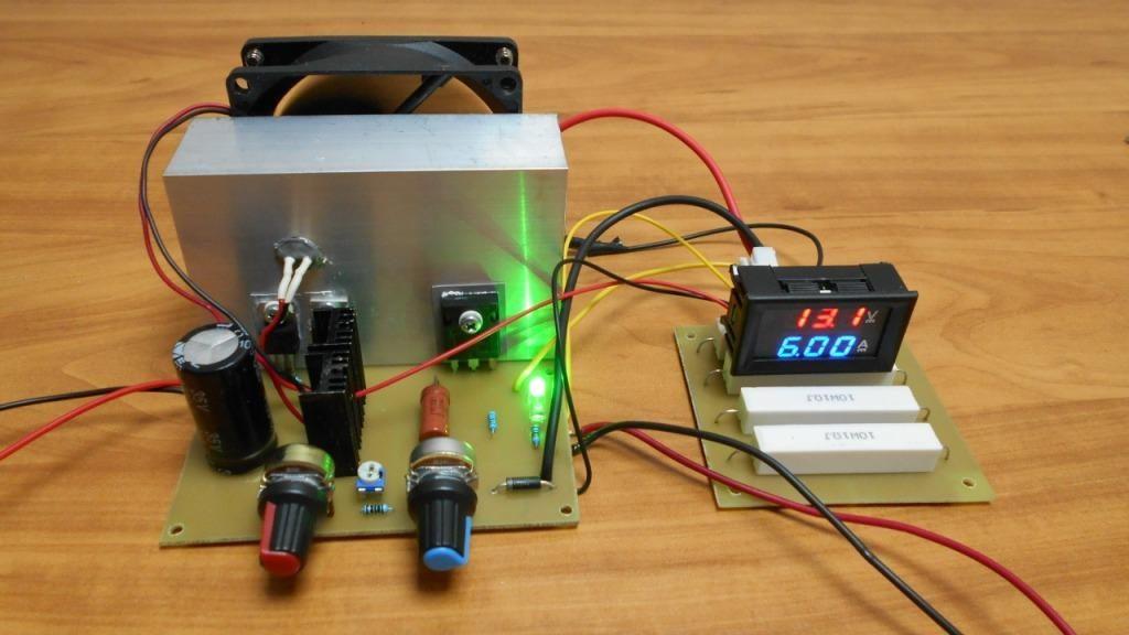 Блок питания с регулировкой напряжения и тока начало зарядки аккумулятора